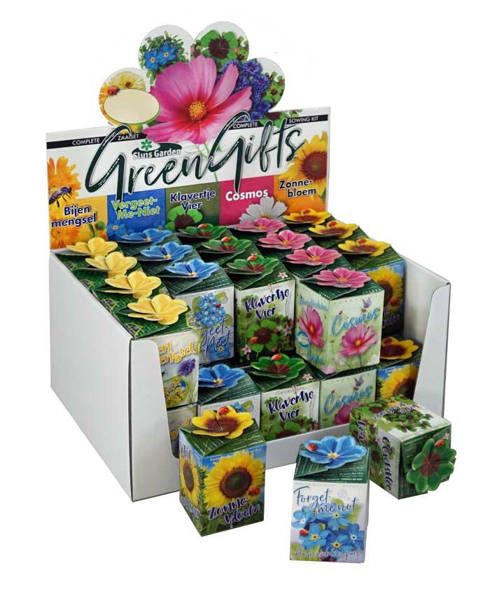 greengift showdoos gemengde zaden