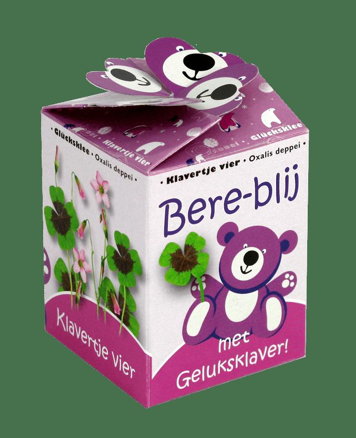 greengift bereblij roze geluksklaver