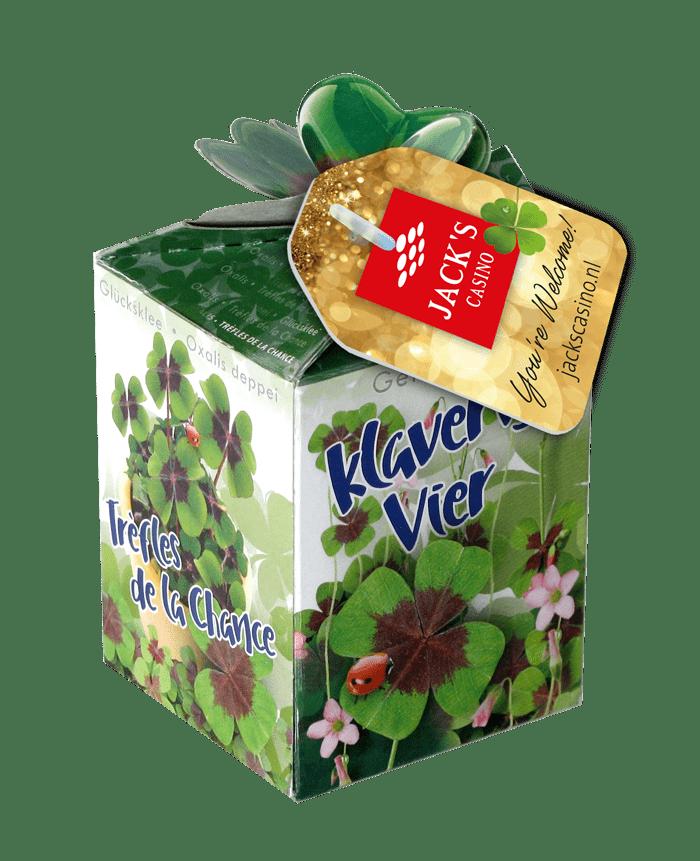 greengift doosje klavertje vier zaden