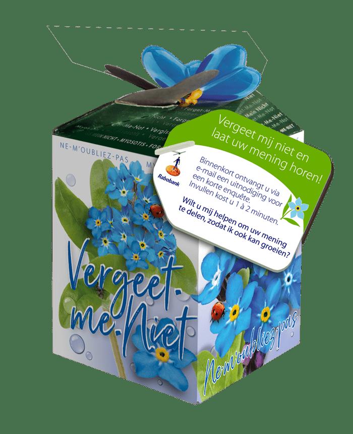 greengift doosje vergeetmeniet zaden