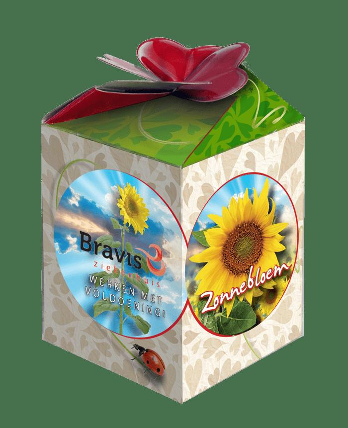 zonnebloem greengift doosje met logo