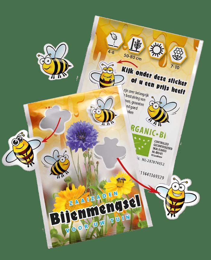 gepersonaliseerd zadenzakje bijenmengsel