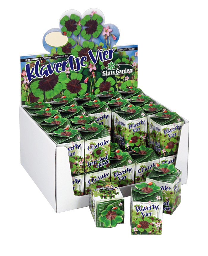 showdoos klavertje vier greengifts