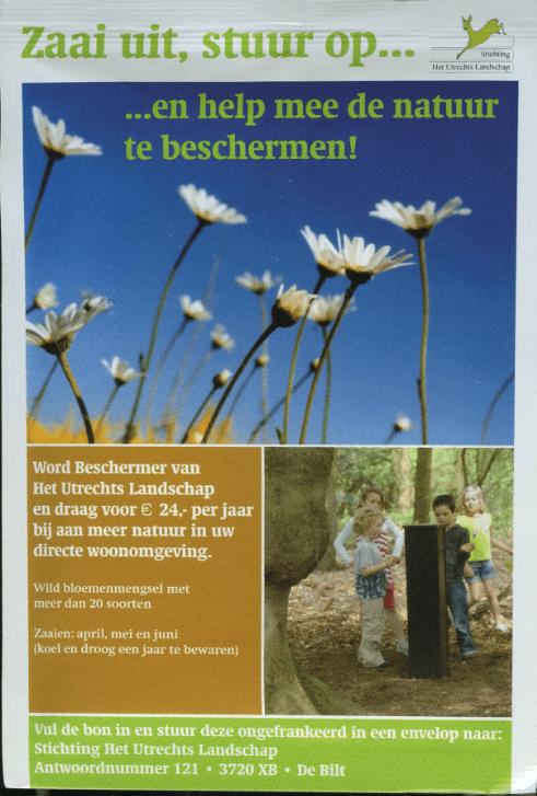 zaadzakje Beschermer Utrechts Landschap