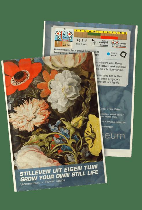 bloemenzaad stilleven eigen tuin